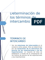 Determincion de Los Terminos de Intercambio