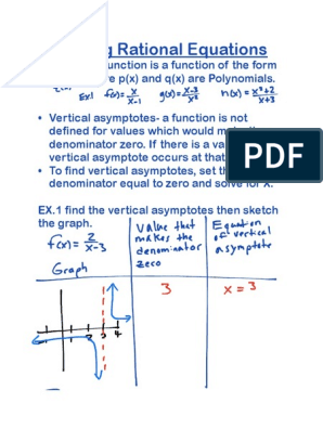 unit 4b graphing rational and radical equations   Asymptote