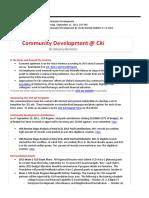 Community Development Internal Bulletin