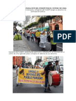 Contundente Movilización Del Fudepp Por El Centro de Lima