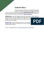 Pengertian Akuntansi Biaya