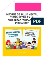 Modelo de Informe de Psiquiatría en comunidad