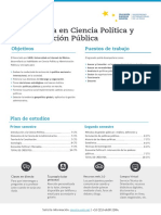 Plan de Estudios Ciencia Política y Administración Pública