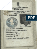 Chandrashekar r p Voter Id