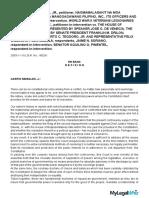 Case 1Francisco v. House or Rep., G.R. No. 160261, Nov. 10, 2003