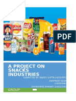 Project on Snacks