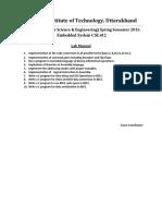Embedded Lab Manual of ES CSL412