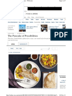 Dosa the Pancake of Posibilities