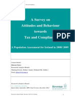 Survey Attitudes Behaviours Dec2013