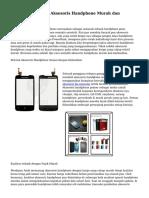 Tips Cara Memilih Aksesoris Handphone Murah dan Berkualitas