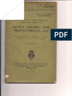 Colonial Report Annual Kenya Colony and Protectorate 1938