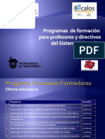 Programas Formando Form Adores Mayo - Septiembre 2010v4