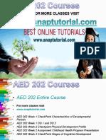 AED 202 Academic Success/snaptutorial