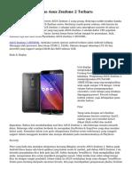Melihat Smartphone Asus Zenfone 2 Terbaru