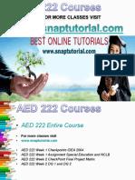 AED 222 Academic Success/snaptutorial