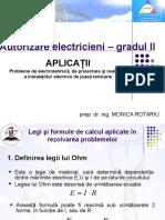 Autorizare Electriceni – Gradul II