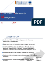 Session on Analytical CRM