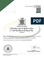 mumena education foundation certificate
