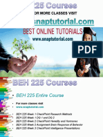 BEH 225 Academic Success/snaptutorial