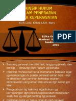 Prinsip Hukum Etika Keperawatan