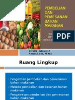 Pembelian Dan Pemesanan Bahan Makanan
