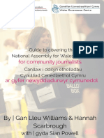 Guide to covering the National Assembly for Wales Election for community journalists