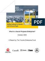 Social Purpose Enterprise
