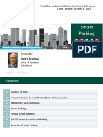 Workshop on Smart Parking Solutions for Service Delivery in Cities Chennai, October 8, 2015