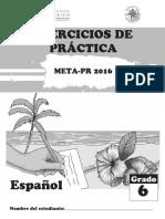 Ejercicios de Practica Espanol g6 20160316