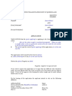 Form 9 Application UCPR