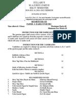M.a. (Urdu) Part-II (Semester IIIrd & IVth)
