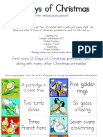 12 Days of Christmas Matching Cards