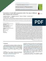 International Journal of Pharmaceutics Volume 474 Issue 1-2 2014 [Doi 10.1016%2Fj.ijpharm.2014.08.008] Keck, Cornelia M.; Kovačević, Andjelka; Müller, Rainer H.; Sa -- Formulation of Solid Lipid Nanop