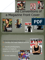 Codes and Conventions of a Magazine Front Cover