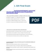 Original PHL 320 Final Exam Answers