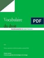 Vocabulaire Du Droit