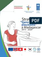 """Stratégie """"Genre et élections"""" à Madagascar 2015 - 2020"""