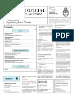 Boletín Oficial de la República Argentina, Número 33.331. 07 de marzo de 2016