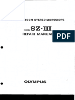 Olympus Sz III Repair Manual