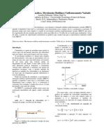 Relatório de Física Experimental - MRUV