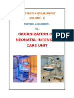 Organization of NICU Services