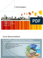 Carrier Ethernet Technologies v1.0 17 Feb 11