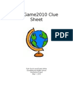GeoGame Clue Sheet