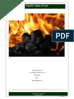 Calorific Value of Coal