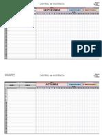 Control de Asistencia en Formato Excel