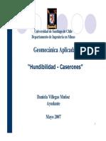 Hundibilidad - Caserones - Ayudantia n6
