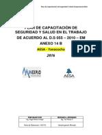 Plan de Capacitación Minexplo Modelo
