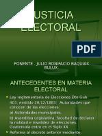 Justicia Electoral Presentacion