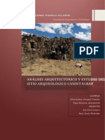 Analisis arquitectonico y estudio de medio geografico del sitio arqueologico de Canintacray