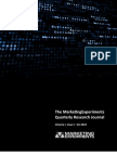The MarketingExperiments Quarterly Research Journal, Q12010